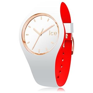 007230 Small Ice-Watch - ICE Loulou White Rose-Gold - Women's Wristwatch with Silicon Strap - 007230 (Small)|abareusagi-usa