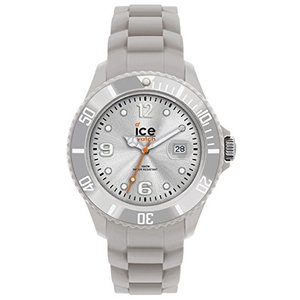 SI.SR.B.S.09 One Size Ice-Watch Men's SI.SR.B.S.09 Sili Collection Silver Plastic and Silicone Watch|abareusagi-usa