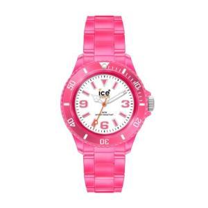 NE.PK.B.P.09 Ice-Watch Men's NE.PK.B.P.09 Neon Collection Clear Pink Plastic Watch|abareusagi-usa