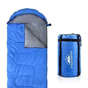 Single DreamGenius Sleeping Bag Envelope Lightweight Comfort with Compression Sack for 4 Season Camping abareusagi-usa