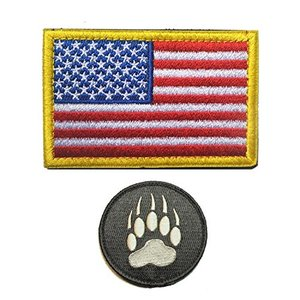 GrayCell Tactical Flag and Claw Print Patch Morale Military for Vest or Jackets (A)|abareusagi-usa
