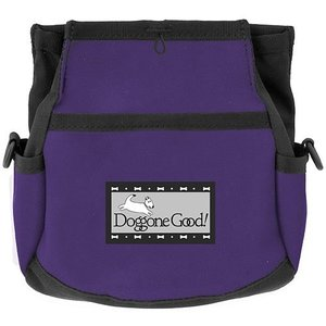 Doggone Good Rapid Rewards Deluxe Dog Training Bag with Belt (Purple)|abareusagi-usa