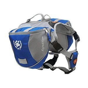 M Fosinz Outdoor Dog Adjustable Backpack with Reflective Strip Dog for Dog Backpack Travel Hiking Camping(M)|abareusagi-usa