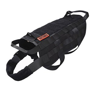 TG-526 M / 41cm OneTigris Tactical Dog Training Vest Harness with Mesh Padding and Two Handles (Black, M / 41cm)|abareusagi-usa