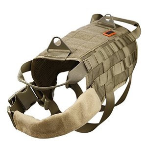 TG-526 XL / 54cm OneTigris Tactical Dog Training Vest Harness with Mesh Padding and Two Handles (Tan, XL / 54cm)|abareusagi-usa