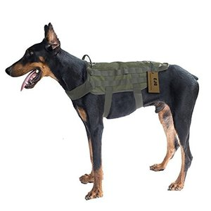 Large EJG Tactical Dog Harness Vest, with Molle System & Velcro Area, No Pulling Design, Comfy Mesh Padding, Service Dog, Military|abareusagi-usa