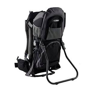 Standard Luvdbaby Premium Baby Backpack Carrier for Hiking with Kids ? Carry Your Child Ergonomically (Black/Grey)…|abareusagi-usa