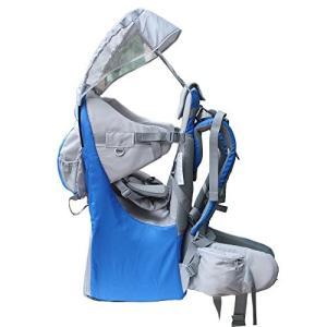 Medium New Baby Toddler Hiking Backpack Carrier Stand Child Kid Sunshade Visor Shield Shield (blue)|abareusagi-usa
