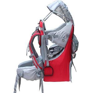 Medium New Baby Toddler Hiking Backpack Carrier Stand Child Kid Sunshade Visor Shield Shield (red)|abareusagi-usa