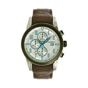 TB1259 Tommy Bahama Swiss Men's TB1259 Havana Pilot Grey IP Bezel Round Analog Chronograph Watch|abareusagi-usa