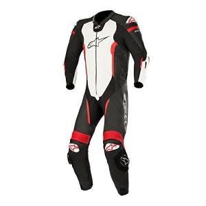3150118 58 Alpinestars Missile Men's 1-Piece Street Race Suits - Black/White/Red / 58 abareusagi-usa