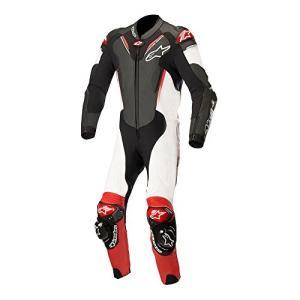3156518 52 Alpinestars Atem V3 Leather One-Piece Suit (52) (Black/White/Red) abareusagi-usa