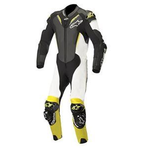 3156518 52 Alpinestars Atem V3 Men's 1-Piece Street Race Suits - Black/White/Yellow / 52 abareusagi-usa