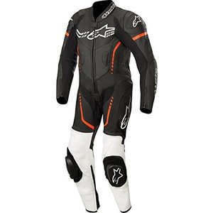 3140518 140 Alpinestars Youth GP Plus Cup Leather One-Piece Suit (140) (Black/White/Red Fluo) abareusagi-usa