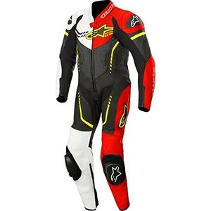 1 150 Alpinestars Youth GP Plus Cup Leather One-Piece Suit (150) (Black/White/Red Fluo/Yellow Fluo) abareusagi-usa
