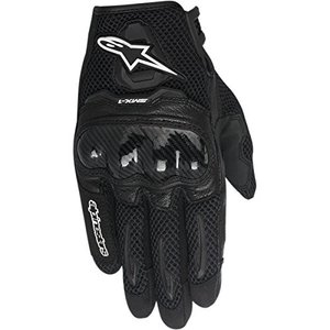 8051194899507 Large Alpinestars SMX-1 Air Women's Street Motorcycle Gloves - Black/Large|abareusagi-usa
