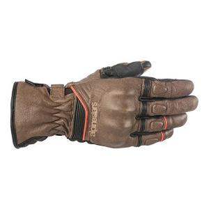 1 X-Large Alpinestars Cafe Divine Mens Leather Gloves Brown/Black XL|abareusagi-usa