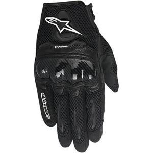 8051194899477 X-Small Alpinestars SMX-1 Air Women's Street Motorcycle Gloves - Black/X-Small|abareusagi-usa