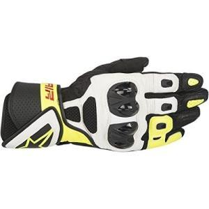 8051194898838 XXX-LARGE Alpinestars SP Air Gloves (XXX-Large) (Black/White/Yellow)|abareusagi-usa
