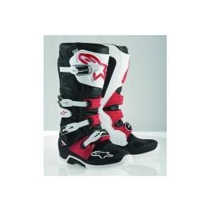 3410-1338 5 Alpinestars Tech 7 Boots-Black/White/Red-5 abareusagi-usa