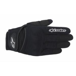 1694200104 X-Large Alpinestars Spartan Men's Street Motorcycle Gloves - Black/X-Large|abareusagi-usa