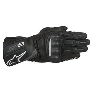 1694340205 XX-Large Alpinestars SP-8 V2 Men's Street Motorcycle Gloves - Black/Gray / 2X-Large|abareusagi-usa