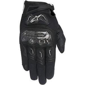 1694350106 XXX-LARGE Alpinestars SMX-2 Air Carbon V2 Leather Street Gloves-Black-3XL|abareusagi-usa