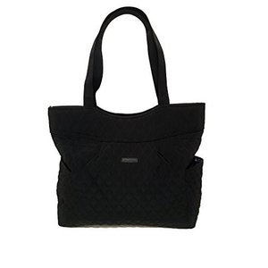 One Size Vera Bradley Pleated Tote Zip Top Bag Sta...