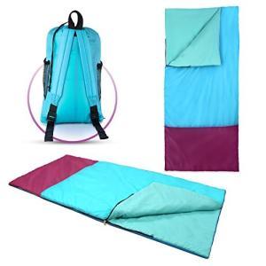 ABC2188 Kids Abco Tech Kids or Children's Junior Sleeping Bags ? Polyester Ultralight Sleeping Bag for Camping & Hiking ? Wi abareusagi-usa