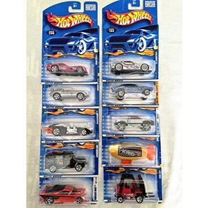Mattel Hot Wheels 10 Pack Die-cast Cars Set Lot (S...