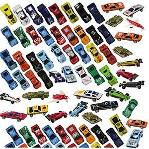 Prextex 100 Pc Die Cast Toy Cars Party Favors Easter Eggs Filler or Cake Toppers Stocking Stuffers Cars Toys for Kids|abareusagi-usa