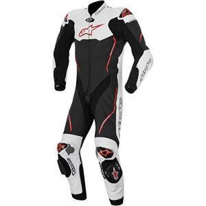 52303_21399 52 Alpinestars Atem Men's 1-Piece Street Motorcycle Race Suits - Black/White/Red / 52 abareusagi-usa