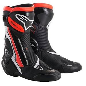 Alpinestars SMX Plus Vented Motorcycle Boots - Black/Red/White - 38 abareusagi-usa
