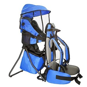 CRS600211 - Child Medium ClevrPlus Cross Country Baby Backpack Hiking Child Carrier Toddler Blue|abareusagi-usa