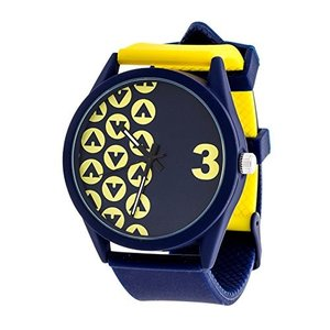 AWW-5098-YE Airwalk Chinese-Automatic Watch with Silicone Strap, Black (Model: AWW-5098-YE)|abareusagi-usa