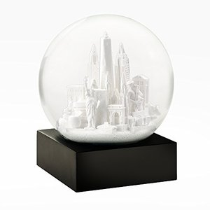 CS283-NYCW CoolSnowGlobes New York City White Cool Snow Globe abareusagi-usa