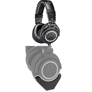 ATH-M50X Audio-Technica ATH-M50x Professional Monitor Headphones, Black with Bluetooth Adapter and Amplifier|abareusagi-usa