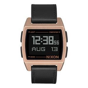 Nixon Base Leather Digital Watch Antique Copper with Black Band|abareusagi-usa