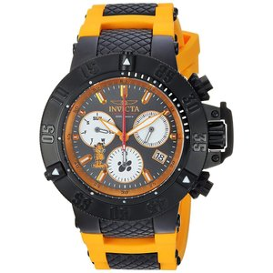 Invicta Men's Character Collection Stainless Steel Quartz Watch with Silicone Strap, Orange, 26 (Model: 24999) abareusagi-usa
