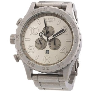 Nixon Men's A083-1033 Stainless Steel Analog with Silver Dial Watch|abareusagi-usa