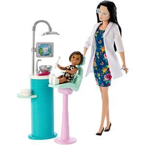 n.a. Barbie Dentist Doll & Playset, Black Hair|abareusagi-usa