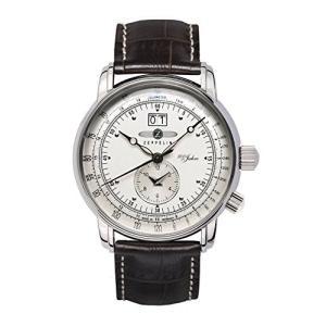 GRAF Zeppelin Dual Time Big Date 100 Years of Zeppelin Watch (White)|abareusagi-usa