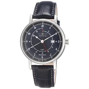 Zeppelin Nordstern Series Swiss Quartz GMT Watch with Coin-Edge Case 7546-3|abareusagi-usa
