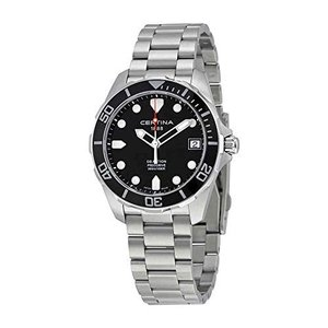 Certina DS Action - 3 Hands Black Dial Stainless Steel Mens Watch C0324101105100|abareusagi-usa