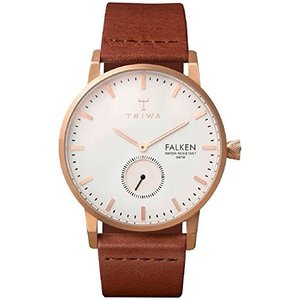 Triwa Rose Falken Unisex Watch with Brown Classic Leather Band FAST101 CL010214 abareusagi-usa