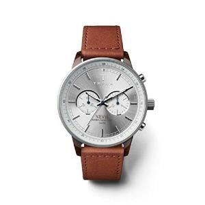 Triwa Hazel Nevil Unisex Chrono Watch Brown Leather Strap NEAC119 SC010212 abareusagi-usa