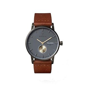 Triwa Walter Falken Unisex Watch with Brown Classic Leather Band FAST102 CL010213 abareusagi-usa