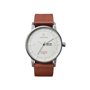 One Size Triwa Dawn Klinga Classic Watch Brown Dotted Leather Strap KLST101-CD010212 abareusagi-usa