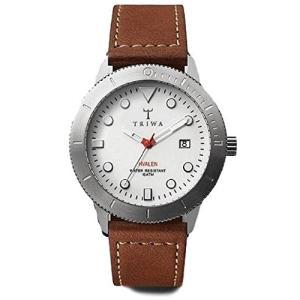 Triwa Ivory Hvalen with Brown Sewn Classic Strap Unisex Men's Watch HVST103 SC010215 abareusagi-usa