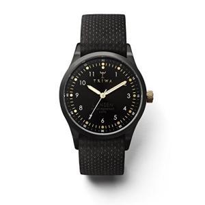 One Size Triwa Unisex LAST112-MD010113 Midnight Lansen Black Watch with Black Organic Leather Band abareusagi-usa